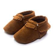 Zapatos de bebé suaves para los primeros caminantes Borlas Mocasines para niñas Niños de 0-24M