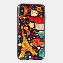 Women Vogue Cute Cartoon Emboss TPU Phone Case Back Cover Anti-fall For iPhone