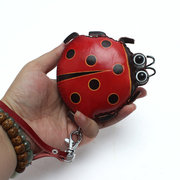 Women Genuine Leather Animal Coin Purse Cute Coin Bag Ladybug Card Bag