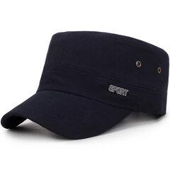 Cappello da sole da viaggio per esterno casual in cotone selvaggio antivento regolabile stile semplice da uomo
