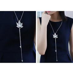 Moda Pingente Longo Colar Maple Leaf Cadeia Charme Colar Camisola Jóias para As Mulheres