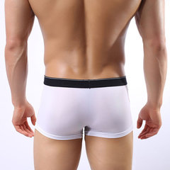 Ice Silk Underwear Thin Breathable U Convex Pouch Seamless Boxers for Men