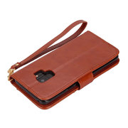 Women Vintage Solid Phone Case For Iphone 2 Card Slot Clutch Bag