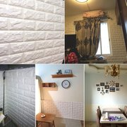 3D Wall Stickers Brick Pattern Wallpaper Modern Wall Background TV Bedroom Decor