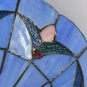 Luz de techo rasante del vintage del montaje de iluminación del techo del vidrio manchado del color azul del estilo europeo