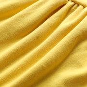 Soft Algodón para niñas pequeñas Comfy manga larga casual Vestido para 1Y-5Y