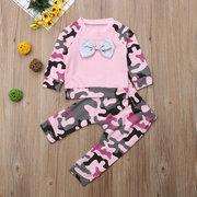 Детский топ Bowknot Cameo Baby Infant + Брюки Комплект одежды на 0-2 года
