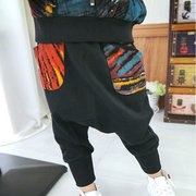 2Pcs Leisure Boys Printed Hooded Shirt + Long Lantern Pants Sets For 2Y-9Y