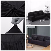 Double-seat Stretch Elastic  Slipcover Pet Dog Sectional Sofa Couch Covers Furniture Protector