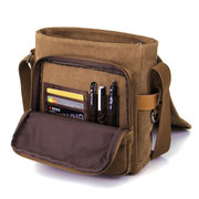 Casual Vintage Canvas Multi-functional Crossbody Bag For Men