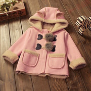 Sweet Classic Boys Girls Winter Hooded Windbreaker Trench Coat For 6-36 Months