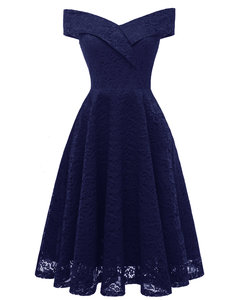 One-shoulder Froral Jacquard Lace Dress