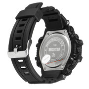 Men Waterproof Sport Army Alarm Date Solar Power Black Wrist Watch Digital Watch
