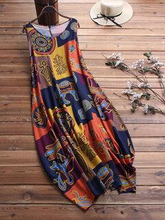 Estampado Étnico Dos Piezas Maxi Vestido Para Mujer