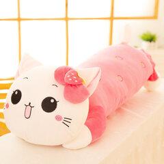 حجم مختلف لطيف ابتسامة عبة القط عناق وسادة الأطفال لعبة الهدايا مرونة المخملية وسادة