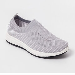 Large Size Women Casual Breathable Mesh Elastic Flat Sports Sneakers