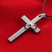 Collana pendente di moda Grapheme Cross Hollow Round Charm Collana gioielli etnici per gli uomini