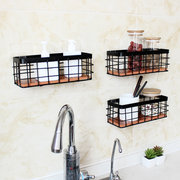 Wooden Iron Shelf Wall Hanging Industrial Modern Storage Shelves Rack Display Baskets