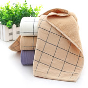 Cotton Thick Luxury Solid Plaid Cotton Towel Hotel Couple Face Towel Solid SPA Bathroom Towel