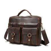Genuine Leather Sling Bag Vintage Handbag Dual-use Crossbody Bag For Men