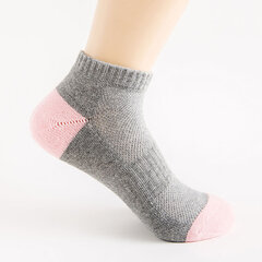 Women Breathable Middle Tube Socks Solid Color Comfortable Sport Cotton Ankle Socks Good Elastic