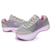 Dandelion M Letter Platform Rocker Sole Shake Sport Breathable Shoes