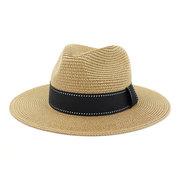 Signore di stagione di stile britannico Jazz Outdoor Beach Protezione solare Cappello di paglia traspirante Cappello da viaggio Cmdjs192