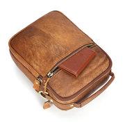 حقيبة جلد للرجال - بني - حقائب طويلة تمر بالجسم