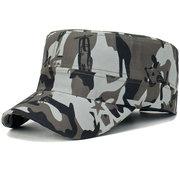 Camouflage coton casquette plate pour hommes Camo Graffiti Gavard cravate Gorras Visors Sunscreen Hat Service Cap