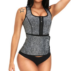Sweat Zip Front Sauna Workout Adjustable Flat Tummy Slimming Vest