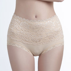 Plus Size High Waisted Tummy Control Lace Panties
