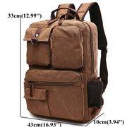 Men Canvas Outdoor Travel Multifunctional Shoulder Bags Large Capacity Backpack