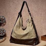 Hopo décontracté multifonctionnel sac bandoulière en toile sac à main grand sac poitrine quotidien pour femme