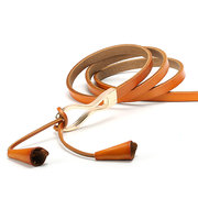 Women Tassel Knotted Belts Genuine Leather Decoration Thin Strap Waistband