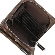 Men Leisure Short Bifold Wallet 12 Card Slot Card Holder Coin Purse