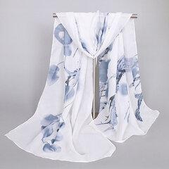Pañuelo blando estampado de gasa para mujeres
