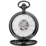 OYYAWEI ساعات الجيب الميكانيكية الميكانيكية الرومانية Numeraals الطلب قلادة ووتش مجوهرات العرقية للرجال