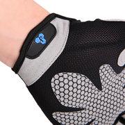 Мужская солнцезащитный крем дышащий регулируемая нескользящая половина пальца Перчатки На открытом воздухе спортивная езда Перчатки