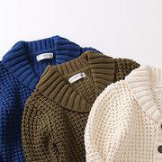 Manteau occasionnel de printemps d'automne de garçons de couleur unie vêtement d'automne pour 4Y-13Y