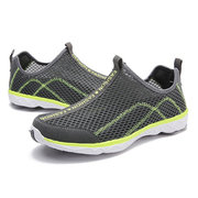 Men Mesh Breathable Non-slip Large Size Outdoor Soft Casual Hiking Sneakers