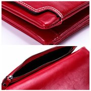 Women Oil Wax Leather Multi-slots Wallet Multi-function Phone Bag