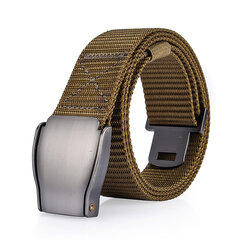 118CM Mens Nylon Smooth Alloy Buckle Belt Outdoor Leisure Sports Tactical Pants Strip Waistband
