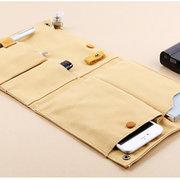Casual Creative Canvas Multifonctionnel Phone Bag Sac de rangement ligne de date