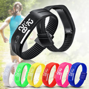 B4A Unisex Casual Multicolor LED Rectangle Digital Pulsera Reloj Deportivo de Regalo para Hombres Mujeres