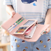 Elegant Character Wallet For Women PU Leather Square Wallet Purse Clutches Bag