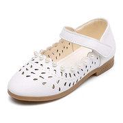 Девичий жемчужный декор полый дышащий Крюк Loop Mary Jane Shoes