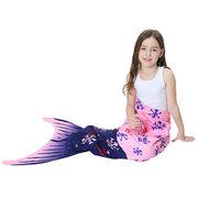 Трикотажное Русалка Хвост Soft Одеяло для детей 3Y-15Y