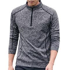 Herren Elastic Fitness T-Shirt Laufen im Freien Schnell trocknend Tops Tight Shirt Langarm T-Shirt