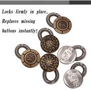 6 Pcs Calças de Brim Extensores de Botões Fix Consertadores Cintura Estiramento Botão de Metal Ferramenta de Costura