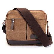 Men Canvas Vintage Casaul Crossbody Bag Retro Sport Outdoor Shoulder Bags